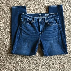 7 FOR ALL MANKIND Roxanne Ankle Skinny Jeans 30